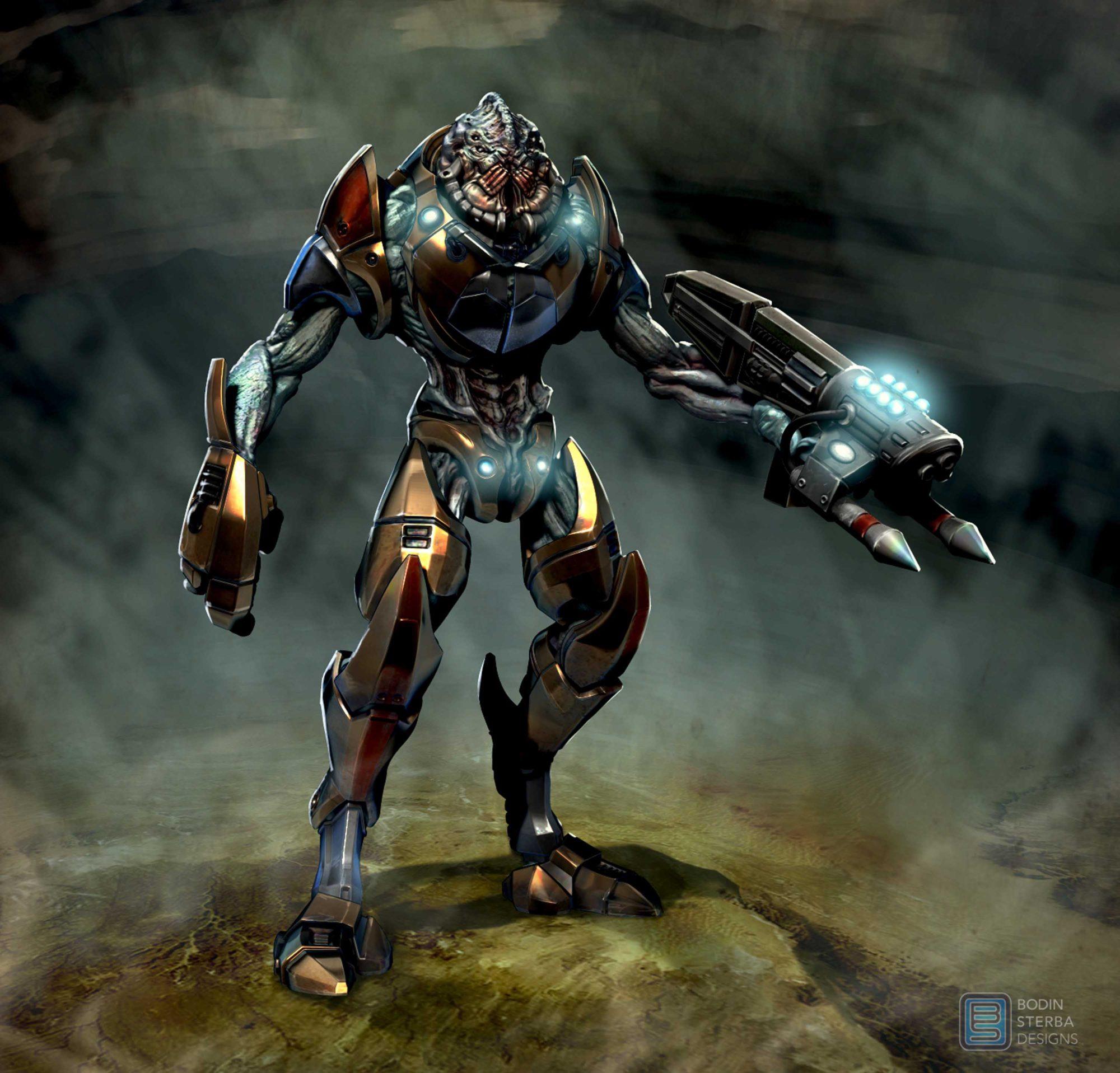 alien soldier concept ...